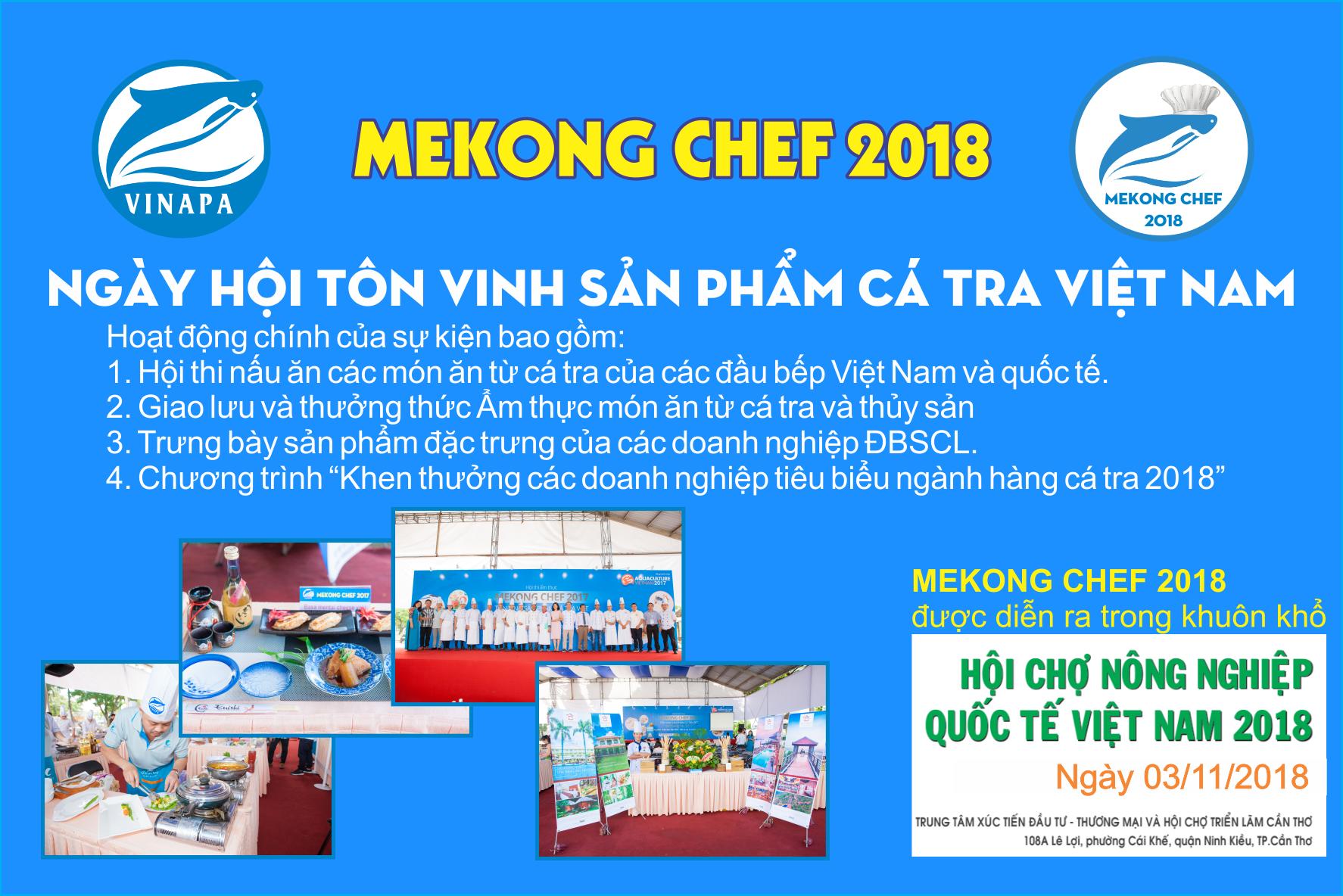 MEKONG CHEF 2018 - Ngày hội Tôn vinh sản phẩm cá Tra Việt